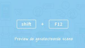 Sneltoets Articulate Storyline: Shift + F12