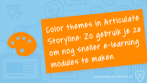 Color themes articulate storyline