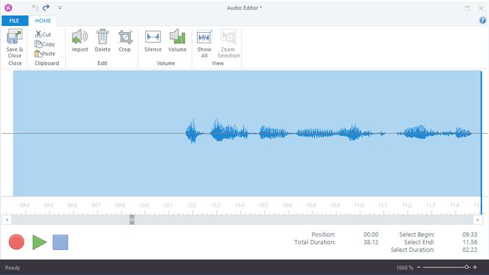 Audio video editor 19